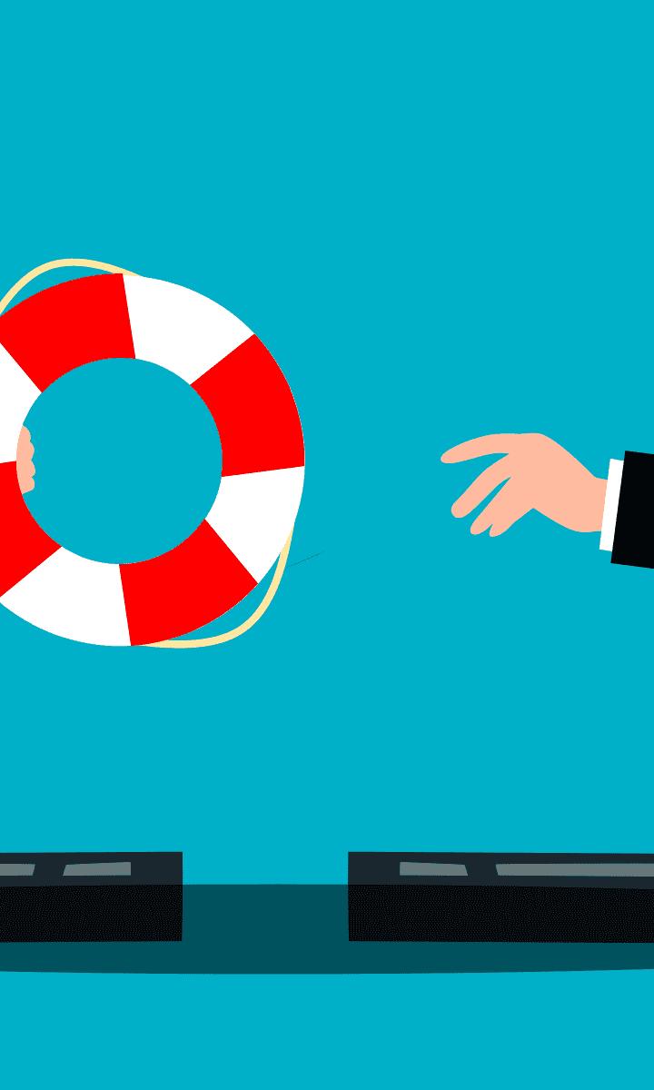 salvagente che viene passato da un utente ad un altro utente