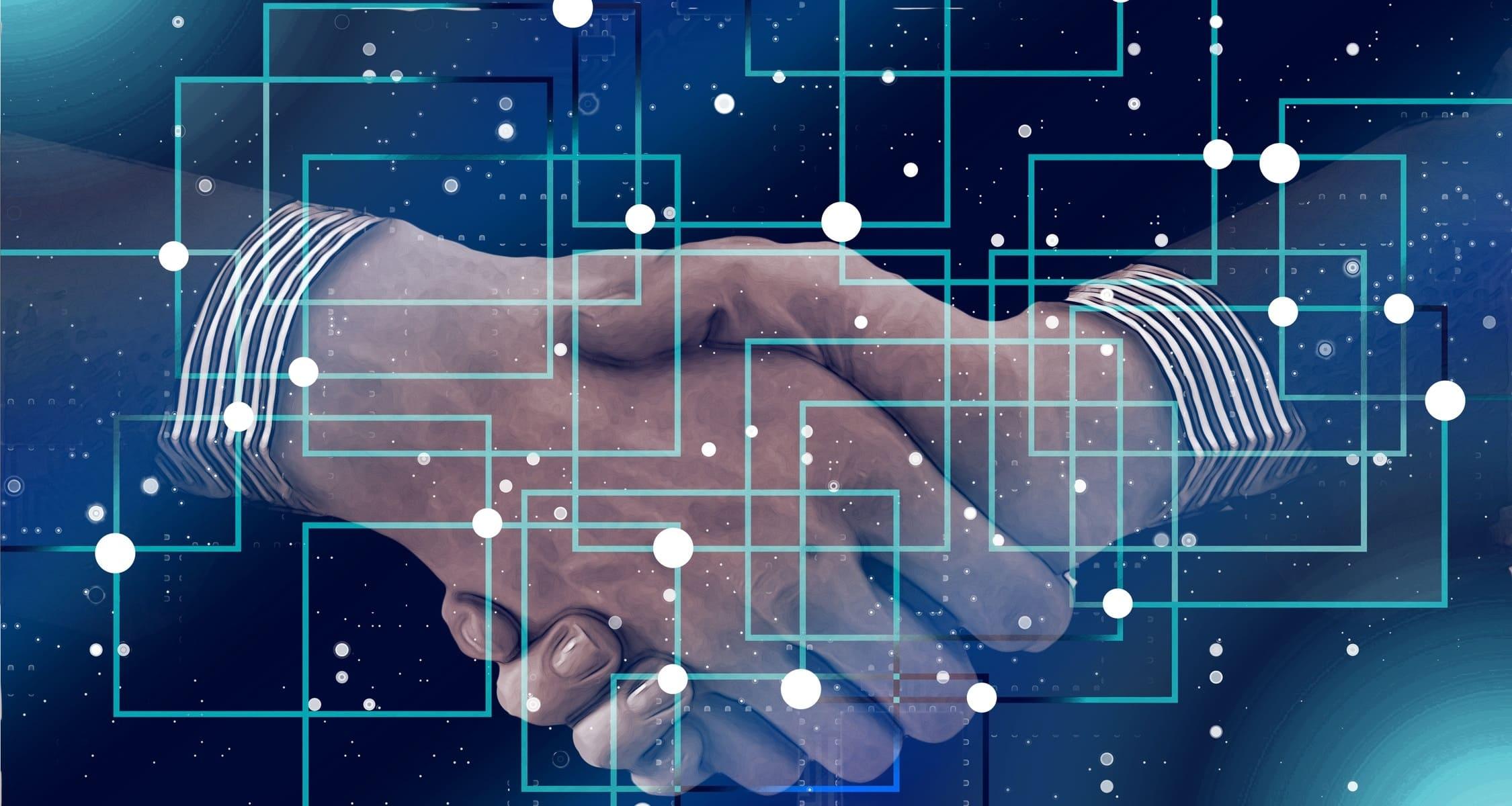 immagine con due mani che si stringono per accordo